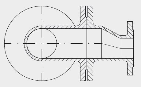 Riduzione piatta a doppia flangia FFRe